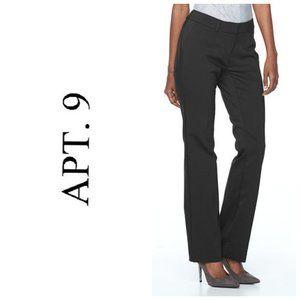 APT. 9 Navy Wide Leg Dress Pants